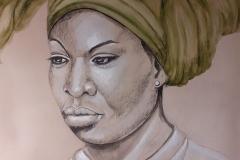Portrait-Nina-Simone-technique-mixte